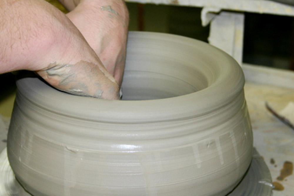 грънчарска глина, за точене, моделиране, скулптура